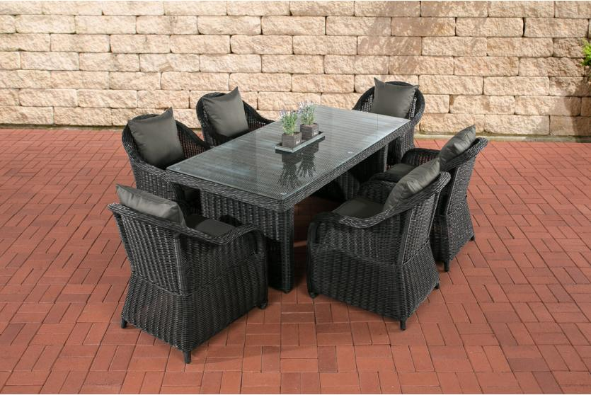 garten garnitur cp071 sitzgruppe lounge garnitur poly rattan kissen anthrazit schwarz. Black Bedroom Furniture Sets. Home Design Ideas