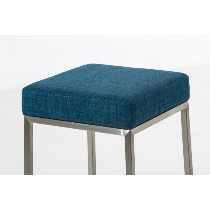 barhocker cp135 barstuhl gestell silber textil 80cm blau. Black Bedroom Furniture Sets. Home Design Ideas