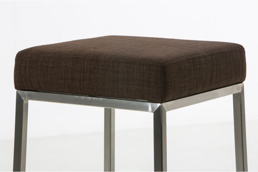 Barhocker cp135 barstuhl gestell silber textil 80cm for Barhocker 80 cm hoch