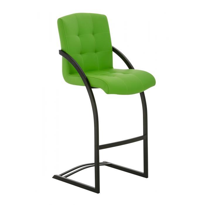 Barhocker Grün cp118 barstuhl gestell schwarz kunstleder grün