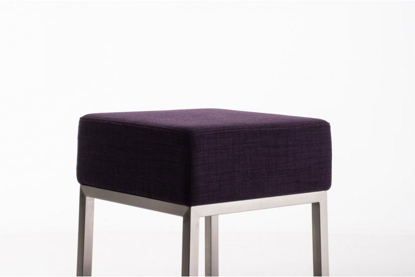 sitzhocker cp214 hocker textil lila. Black Bedroom Furniture Sets. Home Design Ideas