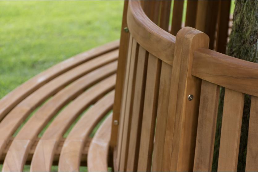 baumbank cp473 gartenbank rundbank holzbank 206cm mit r ckenlehne. Black Bedroom Furniture Sets. Home Design Ideas