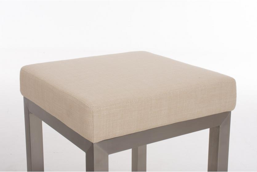 Barhocker cp475 barstuhl gestell silber textil 80cm for Barhocker 80 cm hoch
