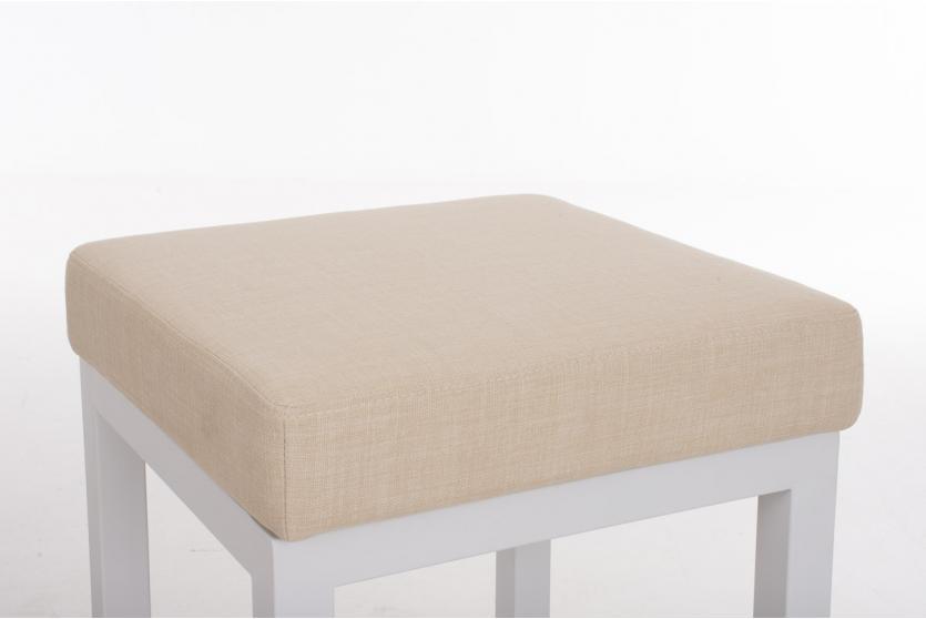 Barhocker cp475 barstuhl gestell wei textil 80cm creme for Barhocker 80 cm hoch