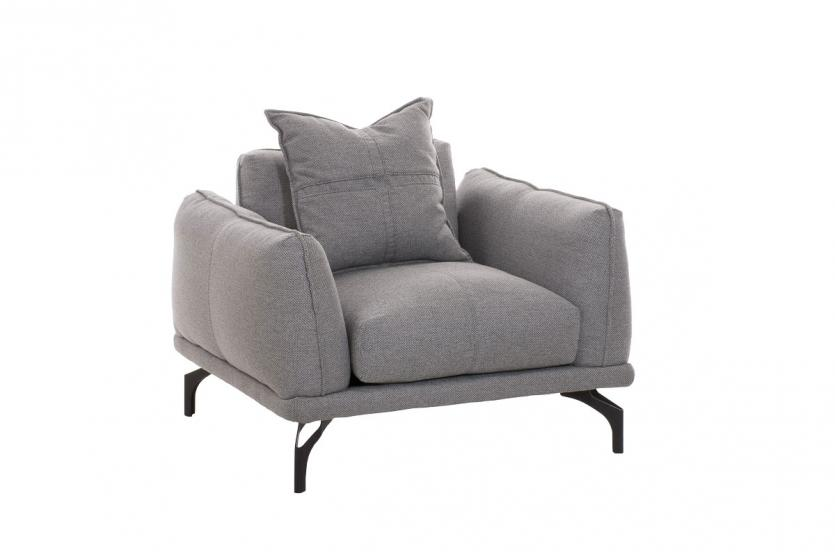Sessel cp541 loungesessel relaxsessel grau for Fernsehsessel stoff grau