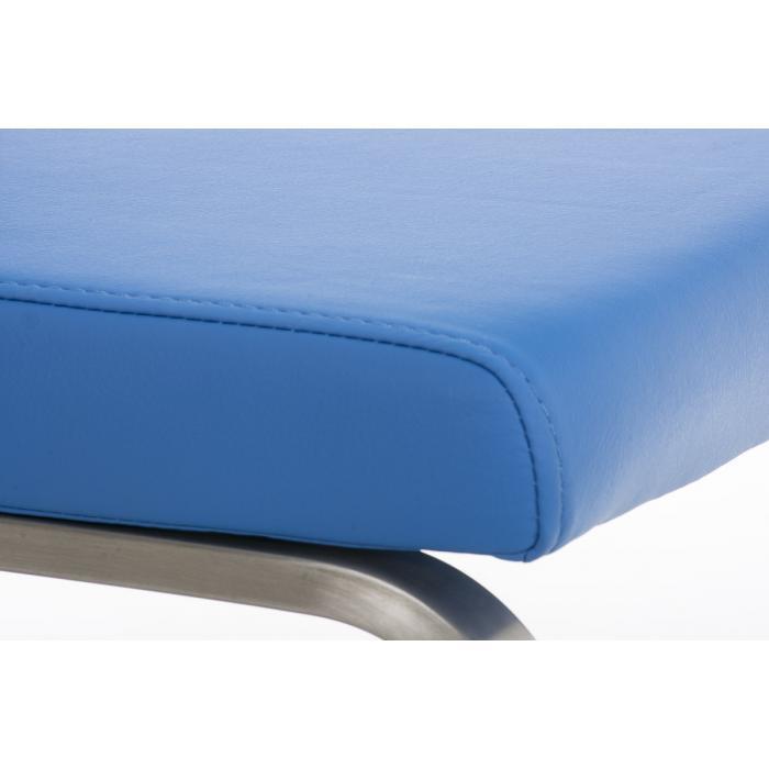 CP526, Freischwinger Stuhl Lehnstuhl ~ Kunstleder, blau