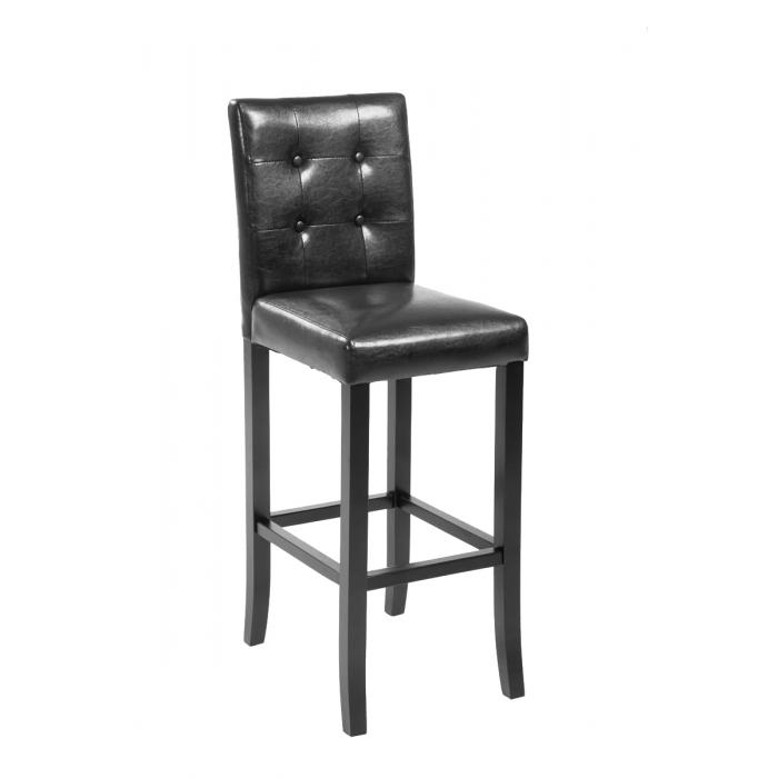 barhocker cp577 barstuhl 115x39x46cm kunstleder gestell schwarz braun. Black Bedroom Furniture Sets. Home Design Ideas