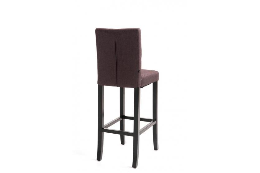 barhocker cp577 barstuhl 115x39x46cm textil gestell schwarz braun. Black Bedroom Furniture Sets. Home Design Ideas