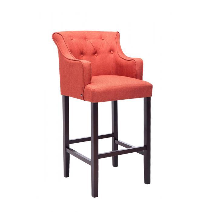 barhocker cp578 barstuhl textil 114x63x60cm gestell braun rot. Black Bedroom Furniture Sets. Home Design Ideas