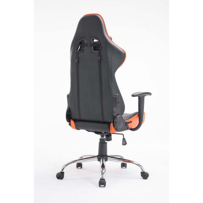 b rostuhl cp609 drehstuhl b rosessel 150kg belastbar kunstleder orange. Black Bedroom Furniture Sets. Home Design Ideas