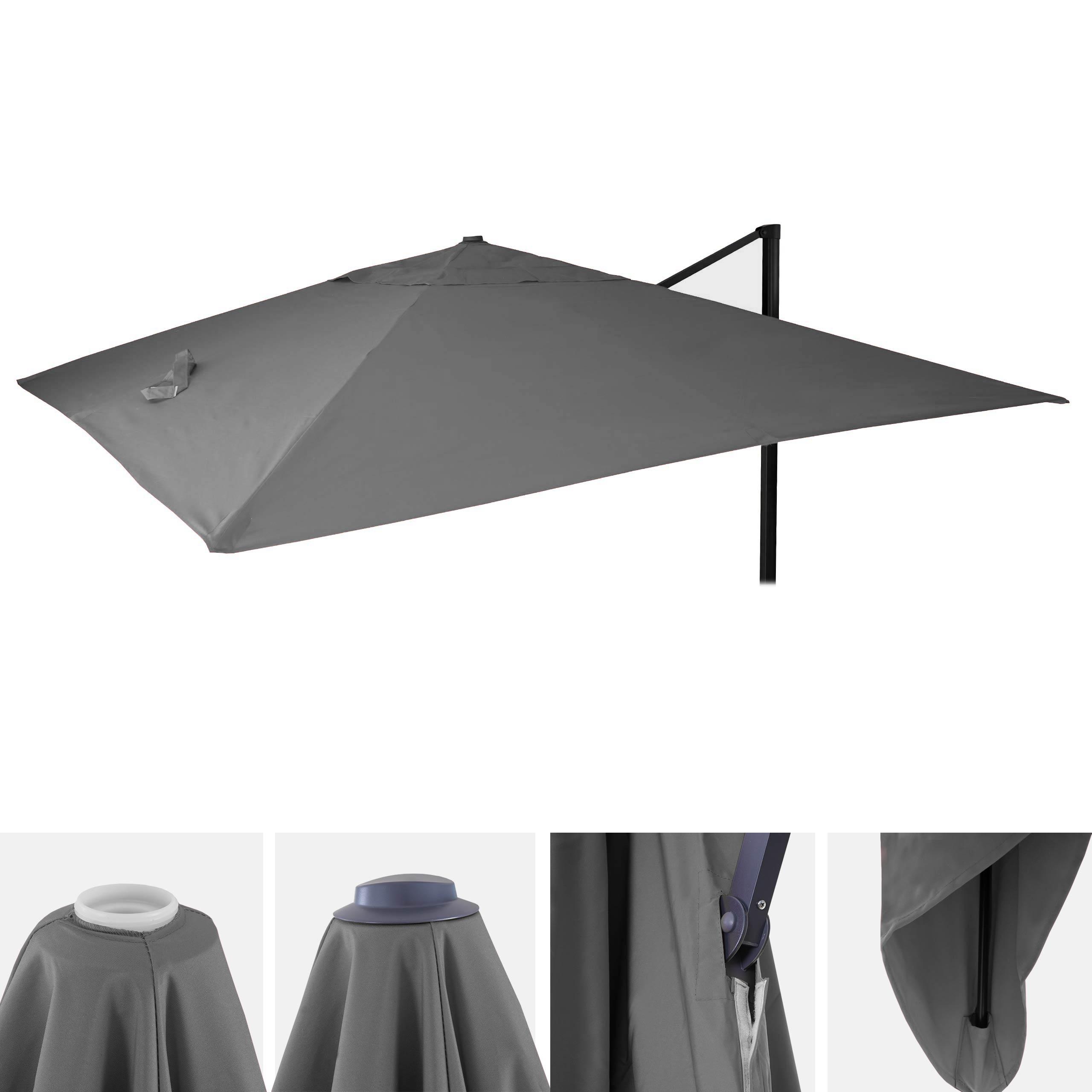 bezug f r luxus ampelschirm hwc a96 sonnenschirmbezug ersatzbezug 3x4m 5m polyester 3 5kg. Black Bedroom Furniture Sets. Home Design Ideas