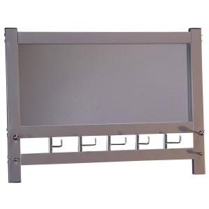 wandgarderobe mit spiegel h74 wandspiegel spiegel garderobe 50x69x9cm alu optik. Black Bedroom Furniture Sets. Home Design Ideas