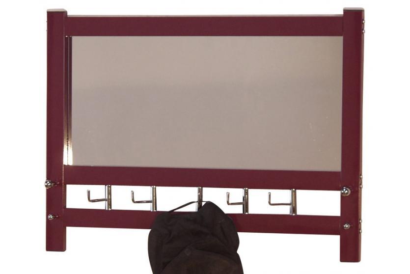 wandgarderobe mit spiegel h74 wandspiegel spiegel garderobe 50x69x9cm brombeerfarben. Black Bedroom Furniture Sets. Home Design Ideas