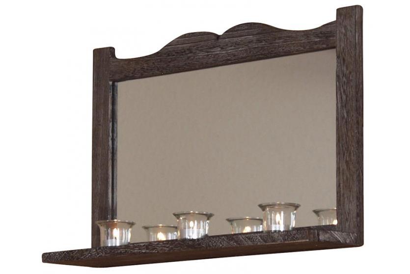 Wandspiegel H75, Spiegel, Shabby Look Vintage, 35x58x12cm ~ weiß