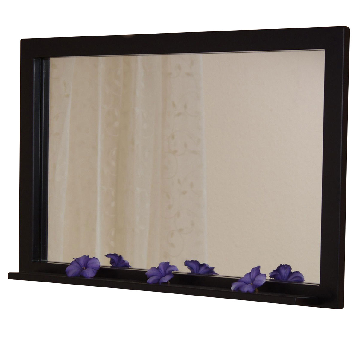 wandspiegel h78 spiegel pulverbeschichtetes metall 80x50cm schwarz. Black Bedroom Furniture Sets. Home Design Ideas