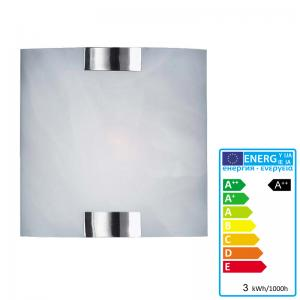 Trio LED-Wandleuchte, 3W-LED, EEK A++, Nickel matt, Glas weiss