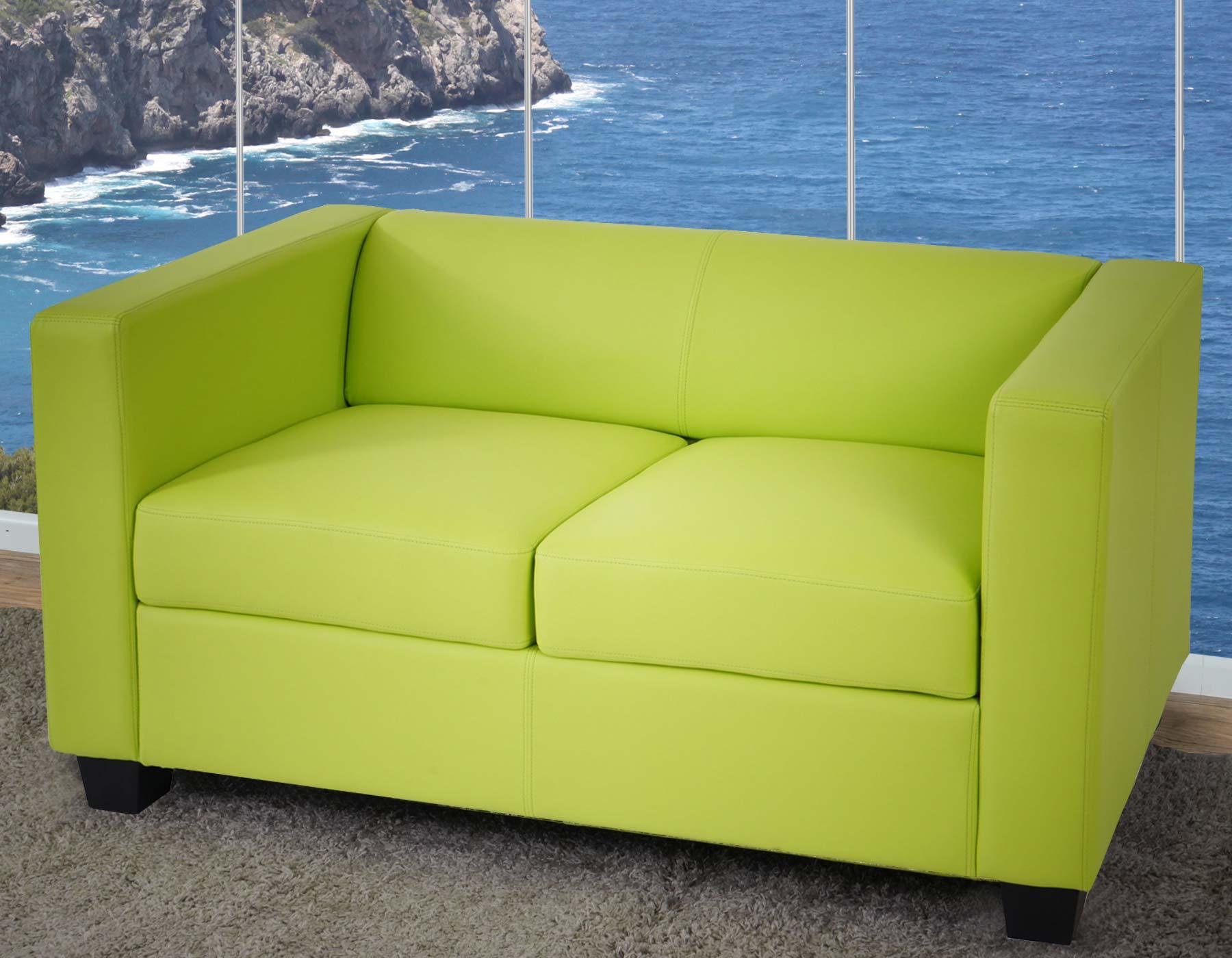 serie lille m65 divano sofa 2 posti 75x137x70cm ecopelle verde ebay. Black Bedroom Furniture Sets. Home Design Ideas