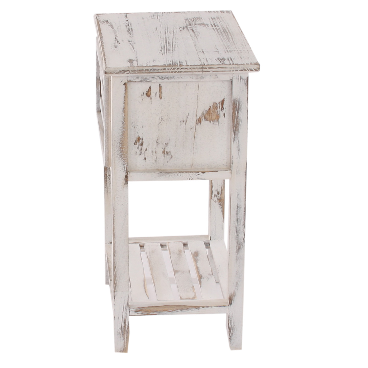 kommode beistelltisch telefontisch 57x35x27cm shabby look vintage wei. Black Bedroom Furniture Sets. Home Design Ideas