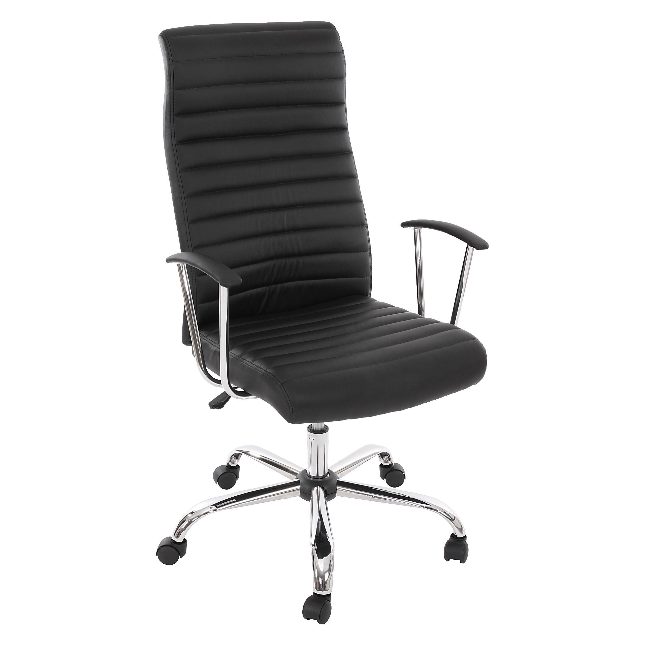 Bürostuhl ergonomisch  Drehstuhl Chefsessel Cagliari, ergonomische Form ~ schwarz