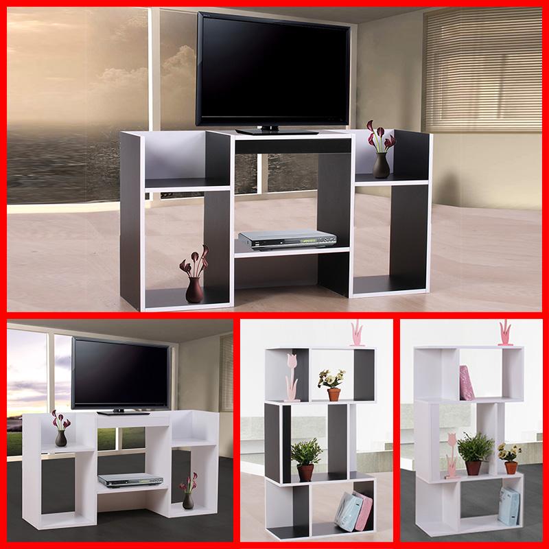 tv rack fernsehtisch standregal aus holz 109x59x30 cm. Black Bedroom Furniture Sets. Home Design Ideas