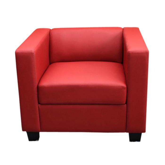 Sessel Loungesessel Lille Kunstleder Rot