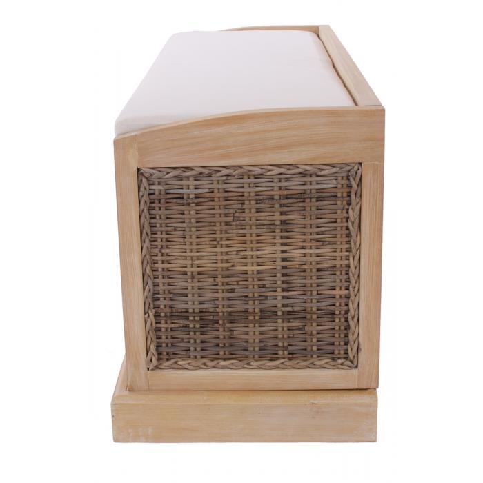sitzbank bienne aufbewahrungsbox 3 k rbe kubu rattan geflecht 112x46x37cm hell. Black Bedroom Furniture Sets. Home Design Ideas