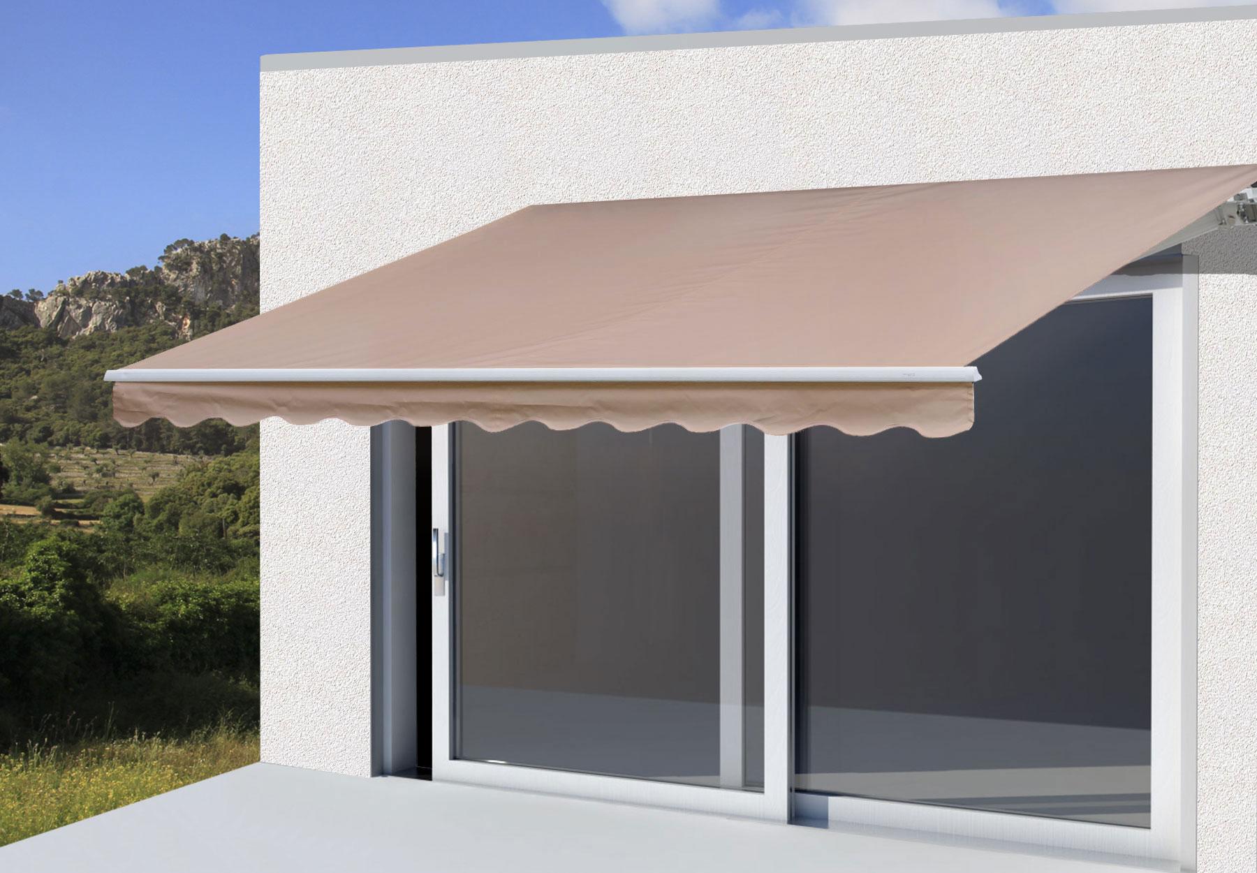 alu markise t121 gelenkarmmarkise sonnenschutz 3 5x3m polyester ebay. Black Bedroom Furniture Sets. Home Design Ideas