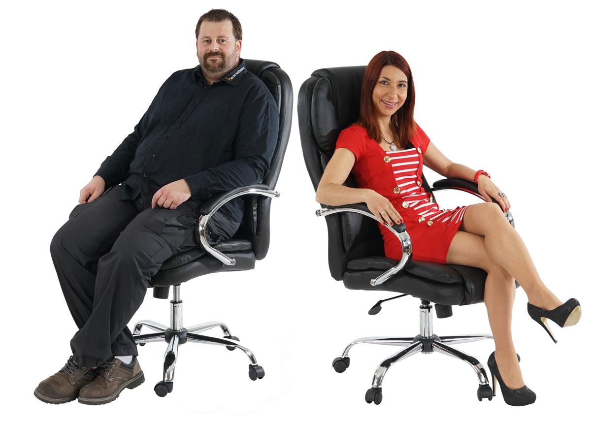 fauteuil de bureau pro kansas xxl charge jusqu 39 150kg similicuir noir ebay. Black Bedroom Furniture Sets. Home Design Ideas