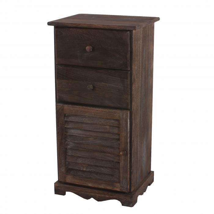 kommode schrank 81x40x32cm shabby look vintage braun. Black Bedroom Furniture Sets. Home Design Ideas