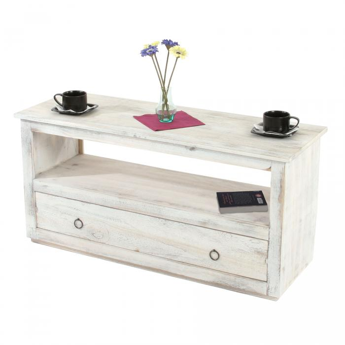 couchtisch wohnzimmertisch beistelltisch shabby look vintage wei. Black Bedroom Furniture Sets. Home Design Ideas