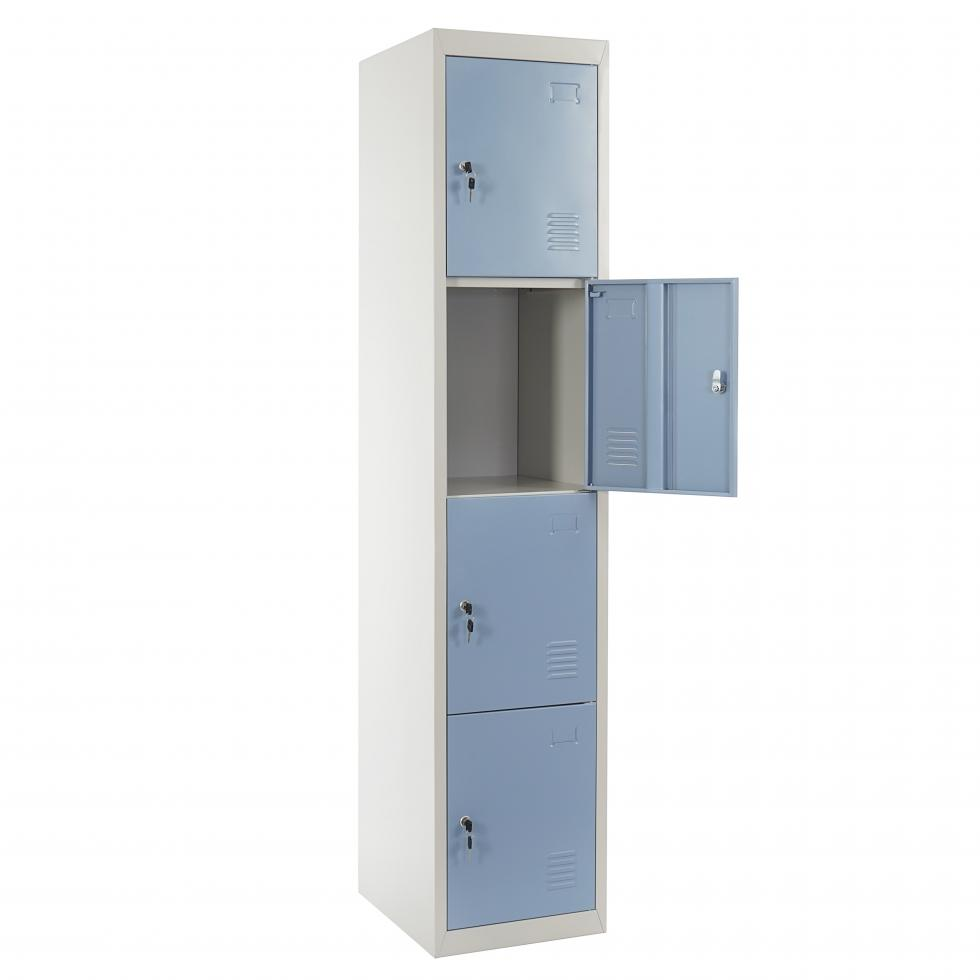 schlie fach preston t163 wertfachschrank spind metall 180x38x45 blau ebay. Black Bedroom Furniture Sets. Home Design Ideas