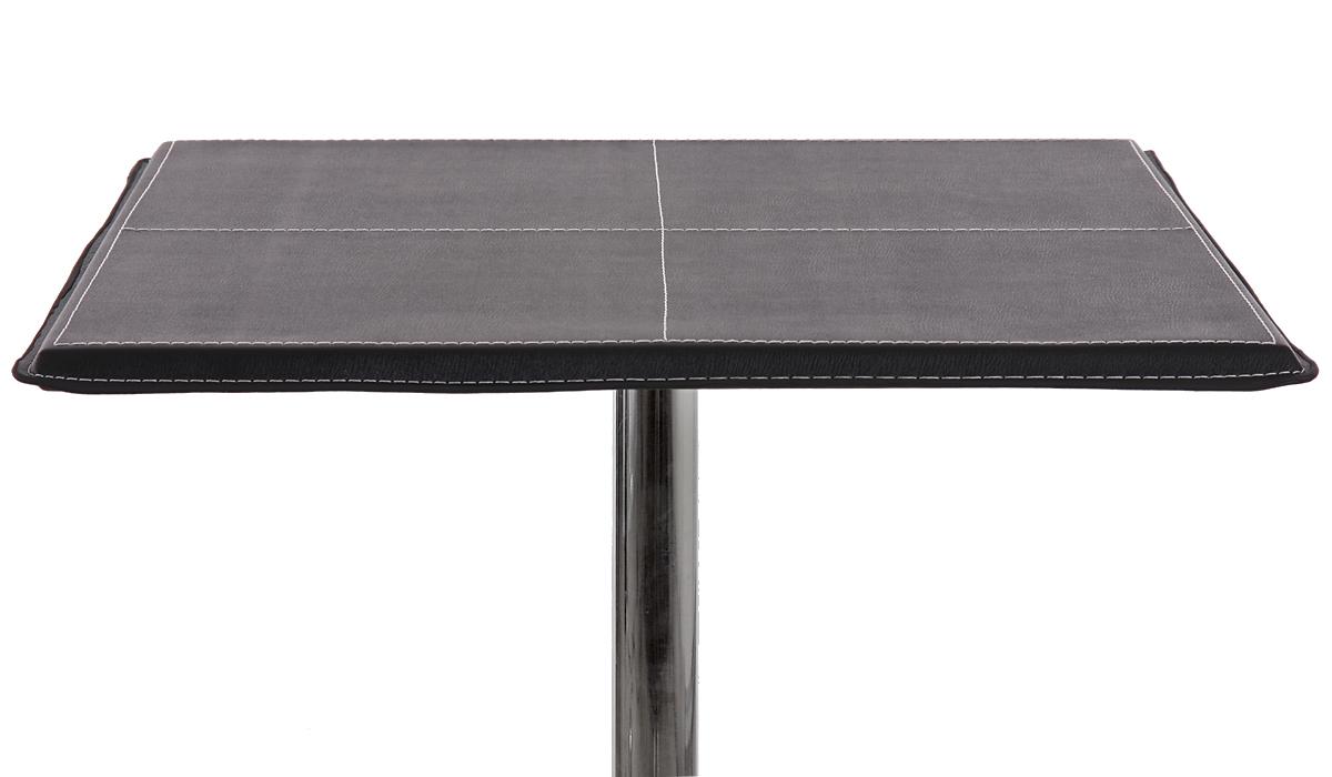 table de bar table haute chicago avec repose pied 63x63x110cm noir blanc ebay. Black Bedroom Furniture Sets. Home Design Ideas