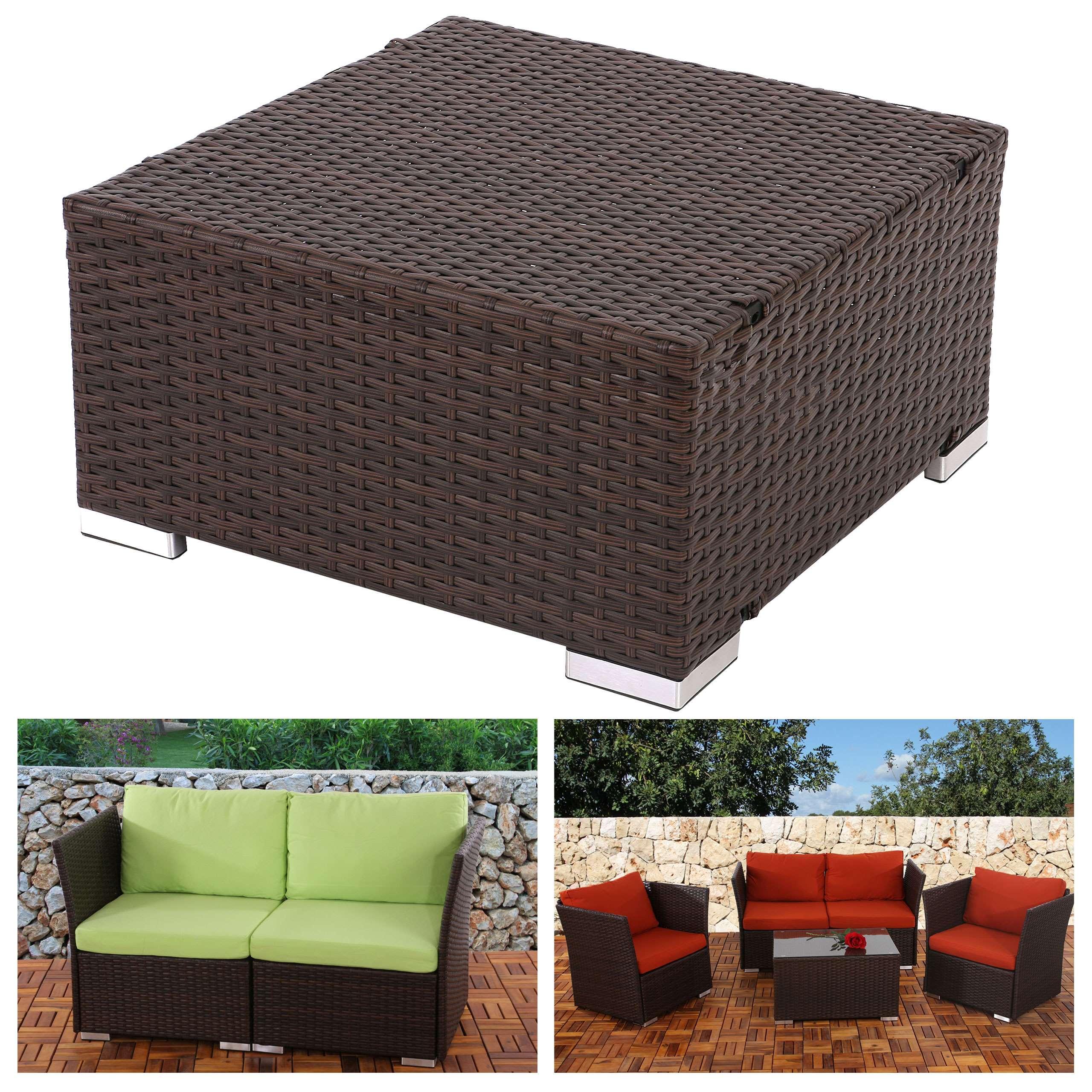 Poly rattan sofa siena modulare gastronomie qualit t naturgrau grau braun ebay Rattan sofa grau