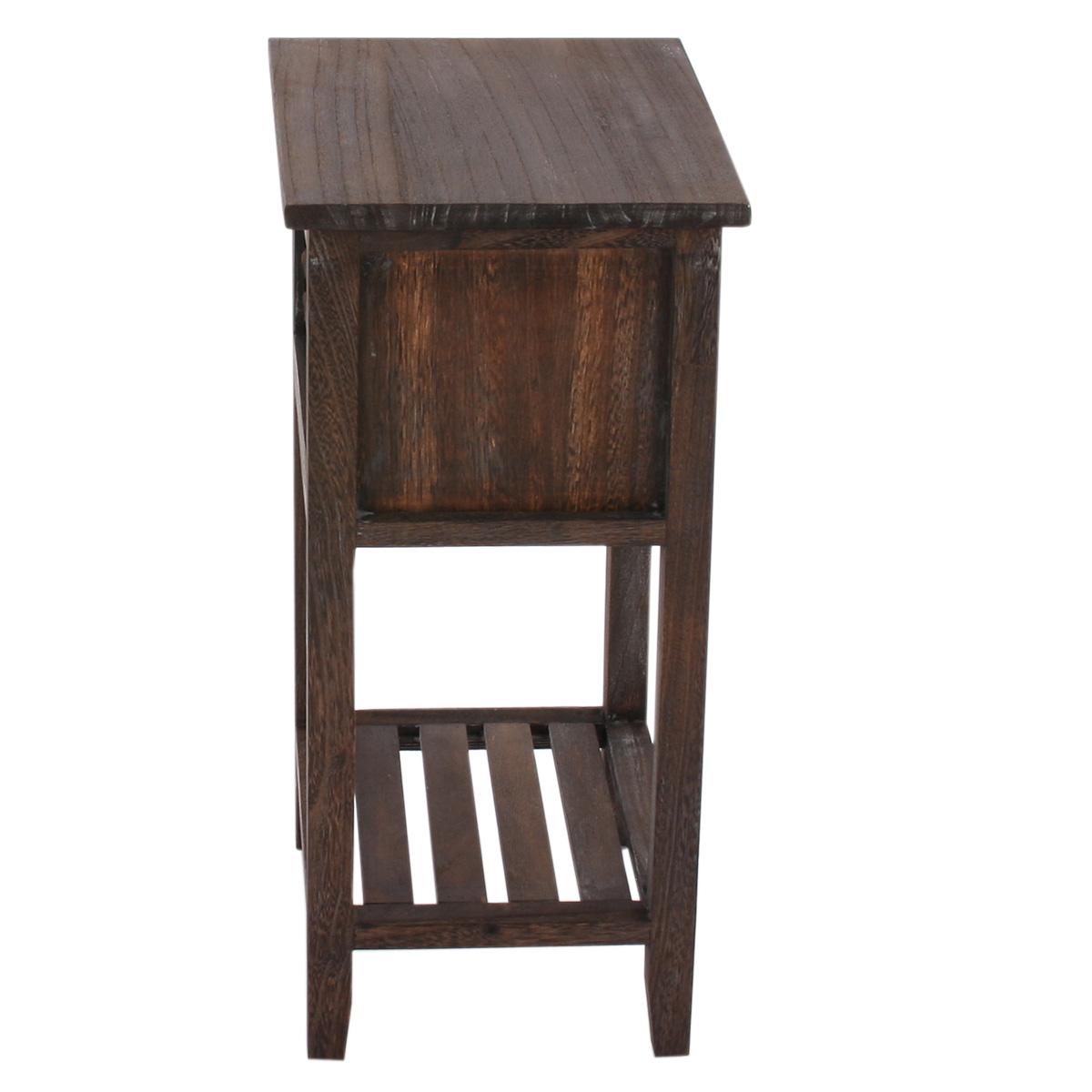 kommode beistelltisch 57x35x27cm shabby look shabby chic. Black Bedroom Furniture Sets. Home Design Ideas