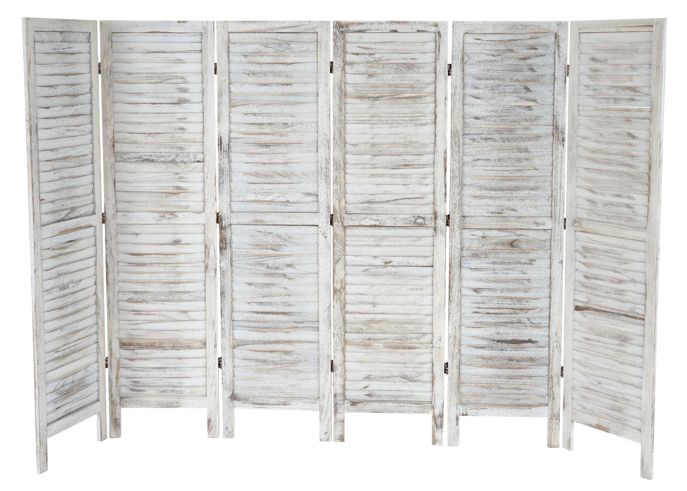 paravent raumteiler 170x276x2cm shabby look vintage wei. Black Bedroom Furniture Sets. Home Design Ideas