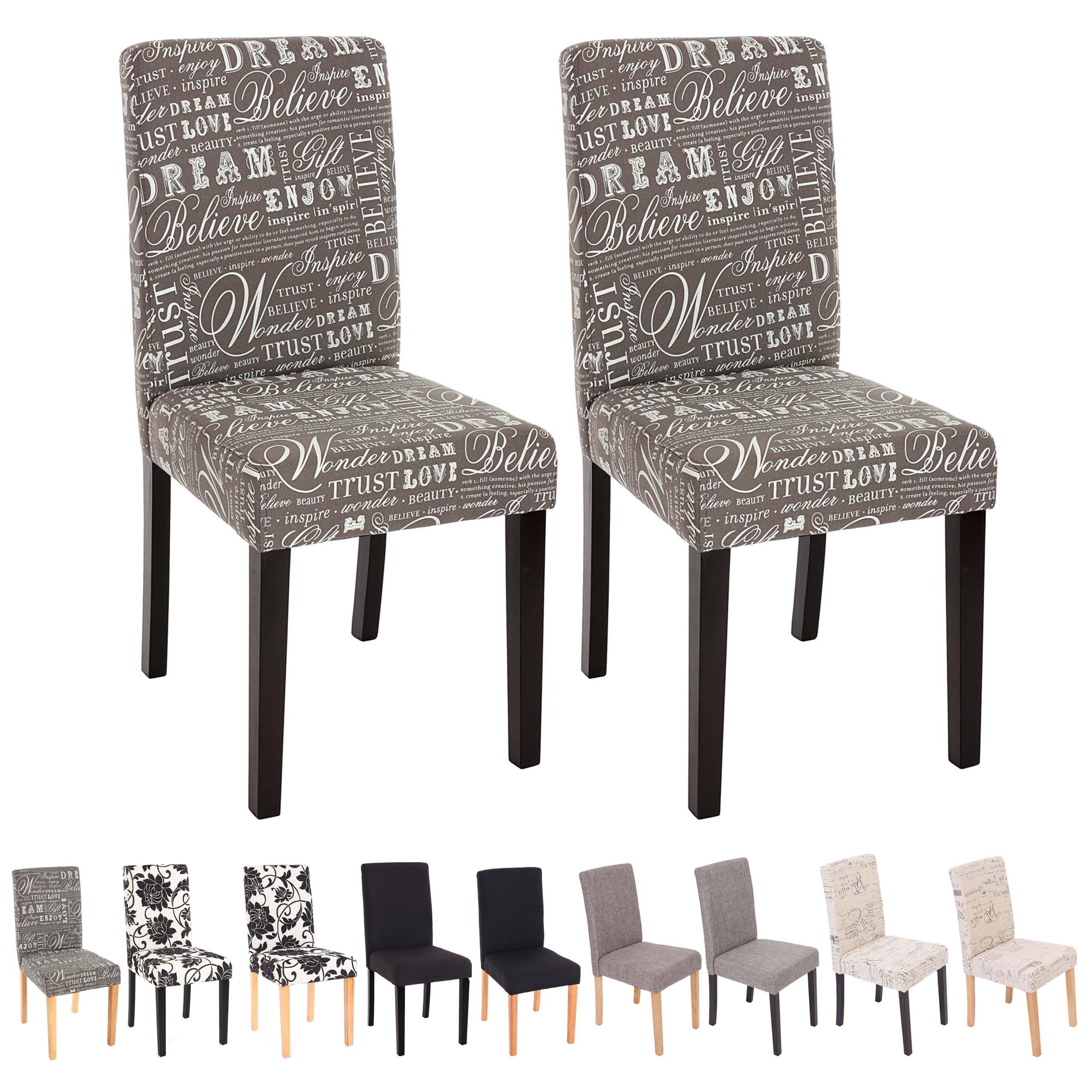 Set 4x sedie littau tessuto per sala da pranzo 43x56x90cm - Sedie per sala da pranzo ...