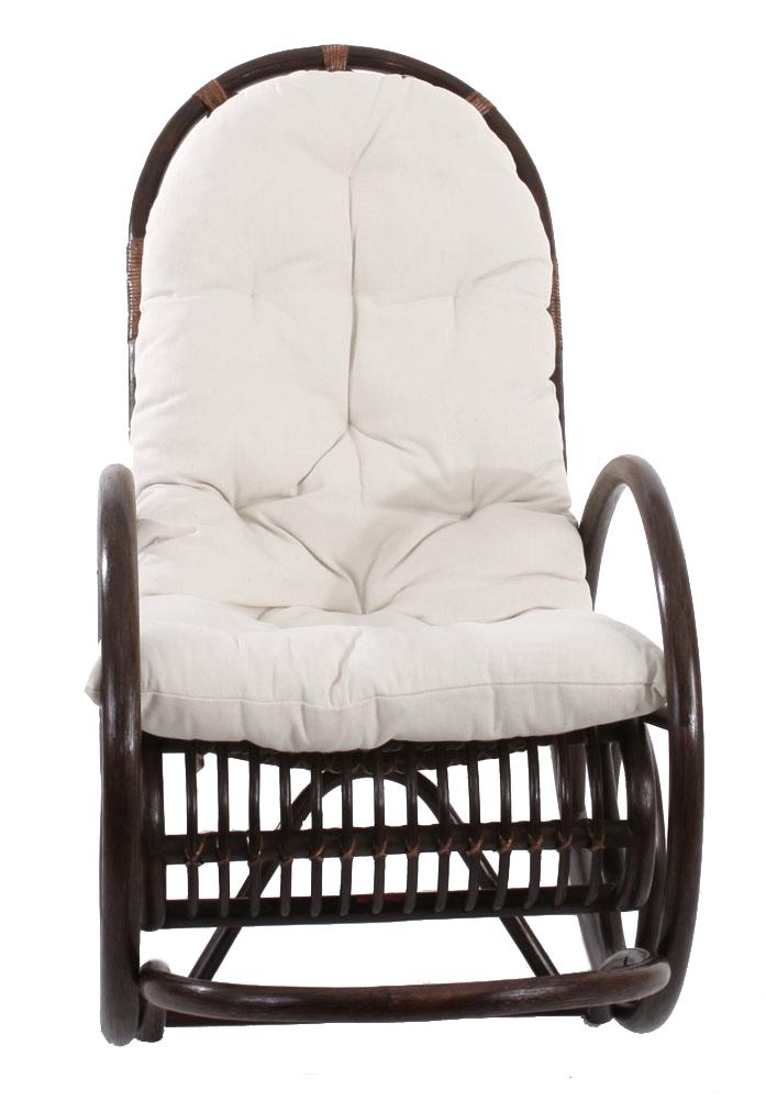 Sedia a dondolo hwc c40 139x58x110cm legno poliestere cotone cuscino bianco ebay - Cuscino per sedia a dondolo ...