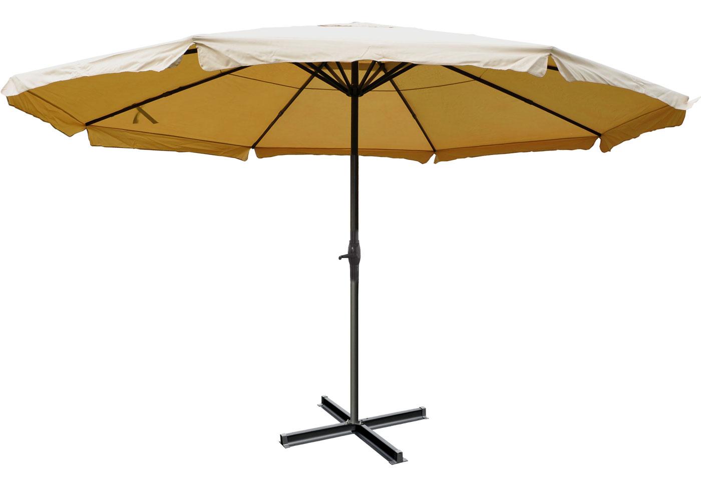 parasol aluminium meran pro 5m avec volant bordeaux. Black Bedroom Furniture Sets. Home Design Ideas