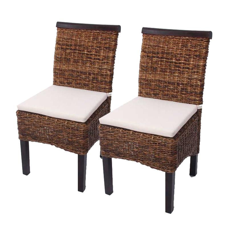 Set 2x sedie M45 intreccio di banano 96x46x55cm versione a scelta ...