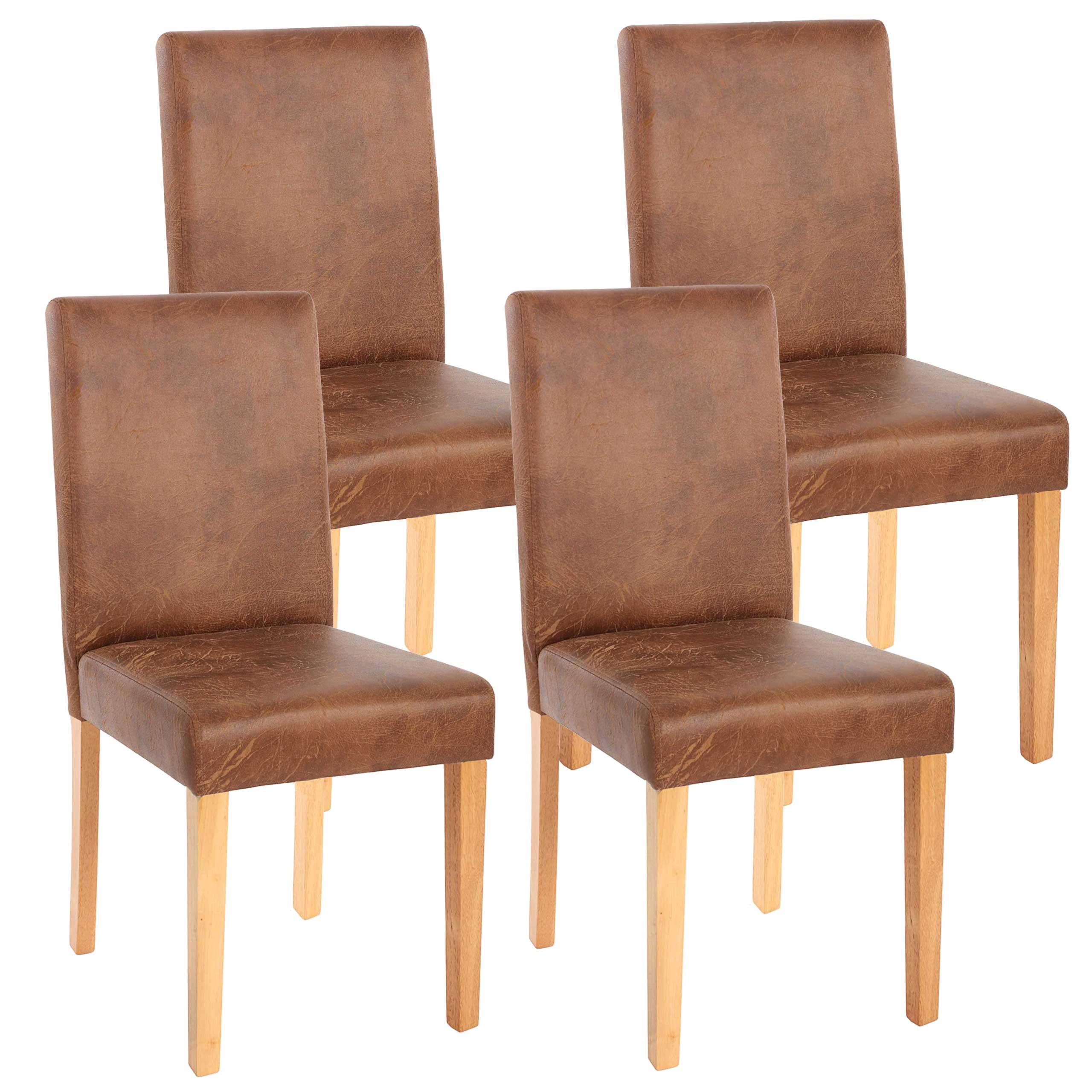 4x esszimmerstuhl stuhl lehnstuhl littau textil wildlederimitat helle beine. Black Bedroom Furniture Sets. Home Design Ideas