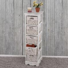 kommode schrank 82x55x30cm shabby look vintage grau. Black Bedroom Furniture Sets. Home Design Ideas