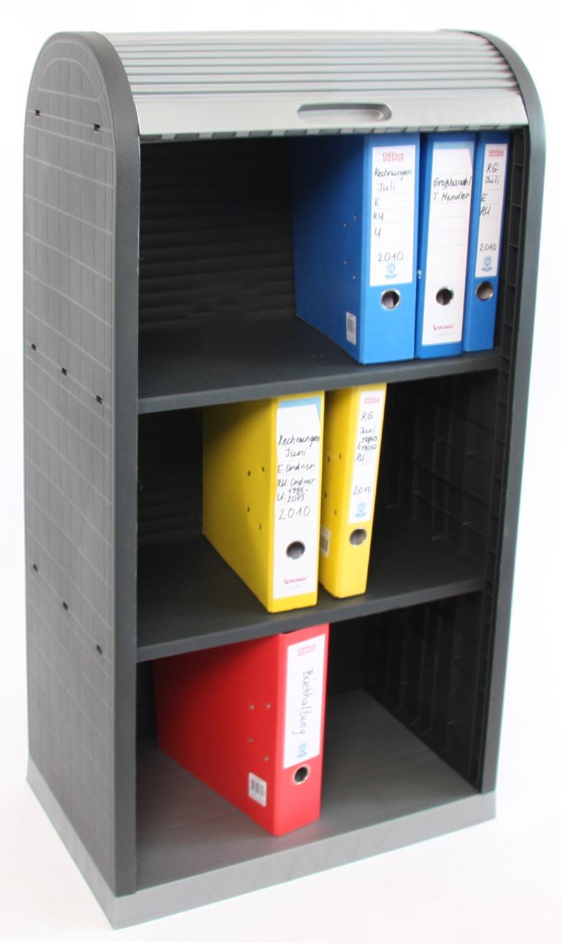 Kunststoff Rollladenschrank Büro Jalousie Schrank 120x58x38cm