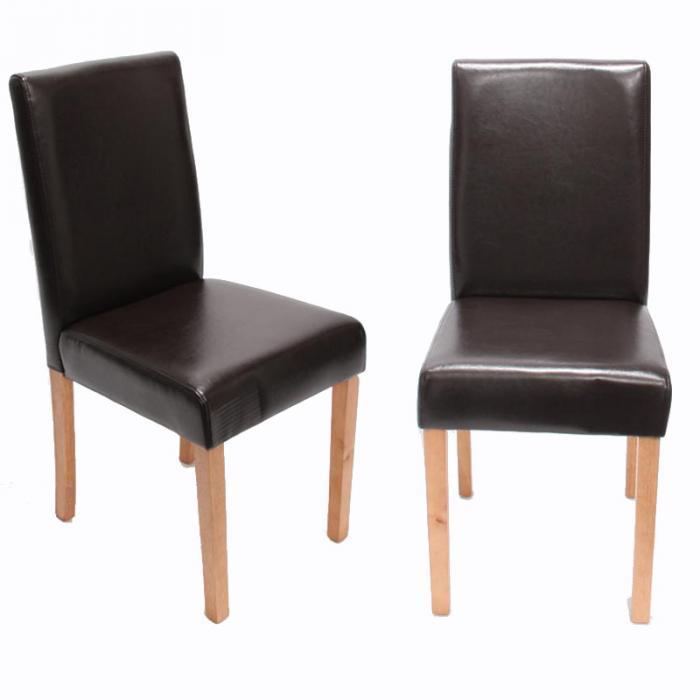 Esszimmer Stühle Leder | 6x Esszimmerstuhl Stuhl Lehnstuhl Littau Leder Braun Helle Beine