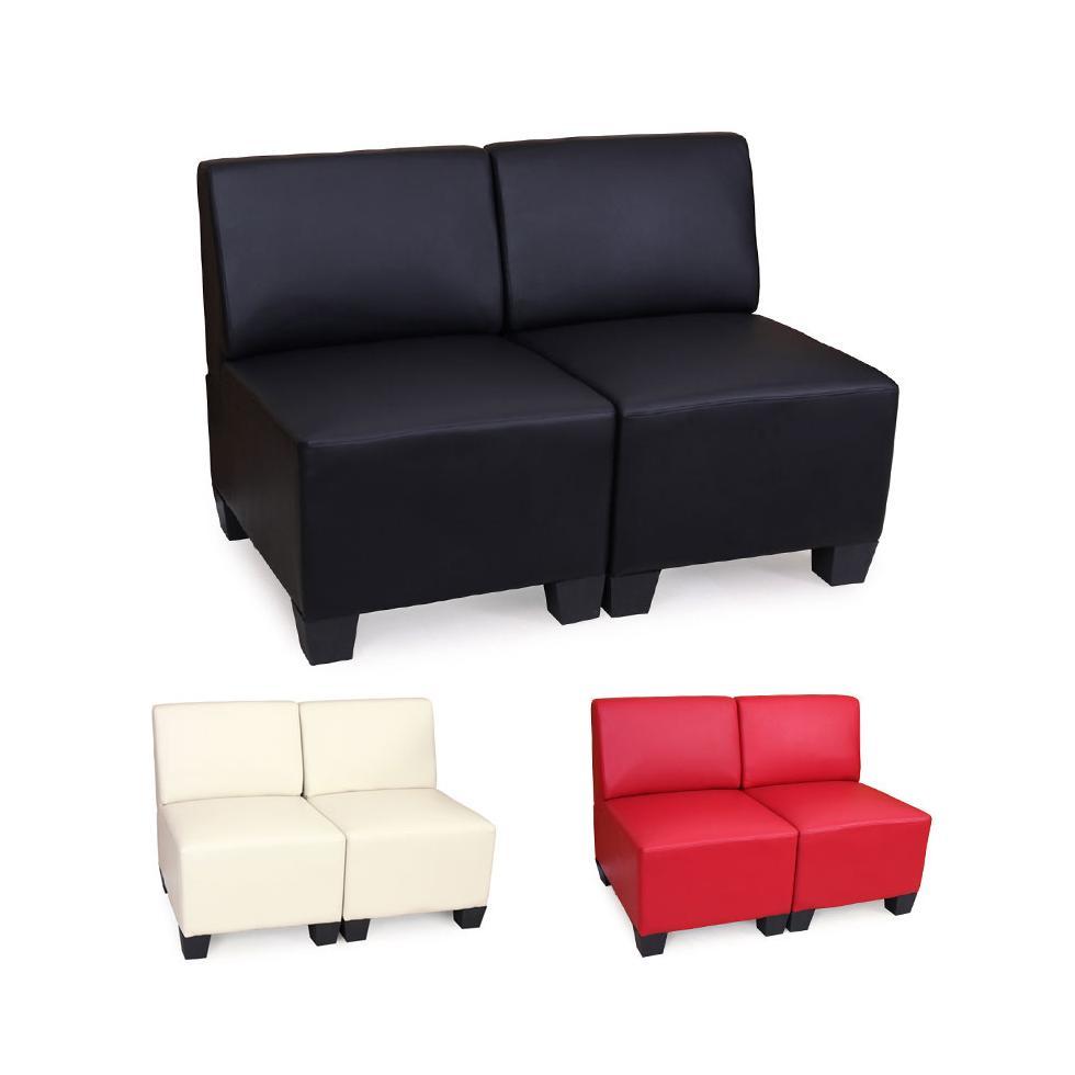 Modular 2 Sitzer Sofa Couch Lyon Kunstleder Ohne