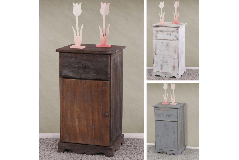 beistelltisch nachttisch telefontisch 63x35x29cm shabby look vintage ebay. Black Bedroom Furniture Sets. Home Design Ideas