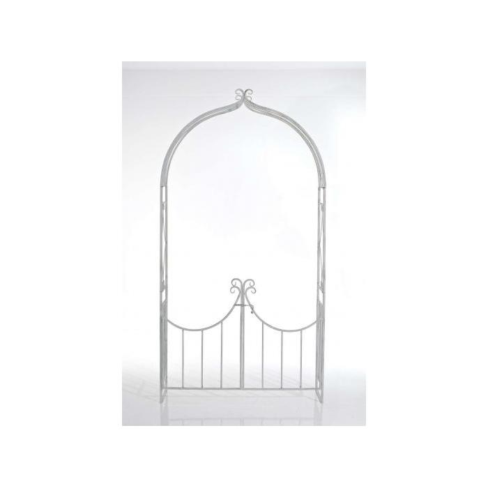 rosenbogen mit tor viola 231x122 cm antik braun. Black Bedroom Furniture Sets. Home Design Ideas