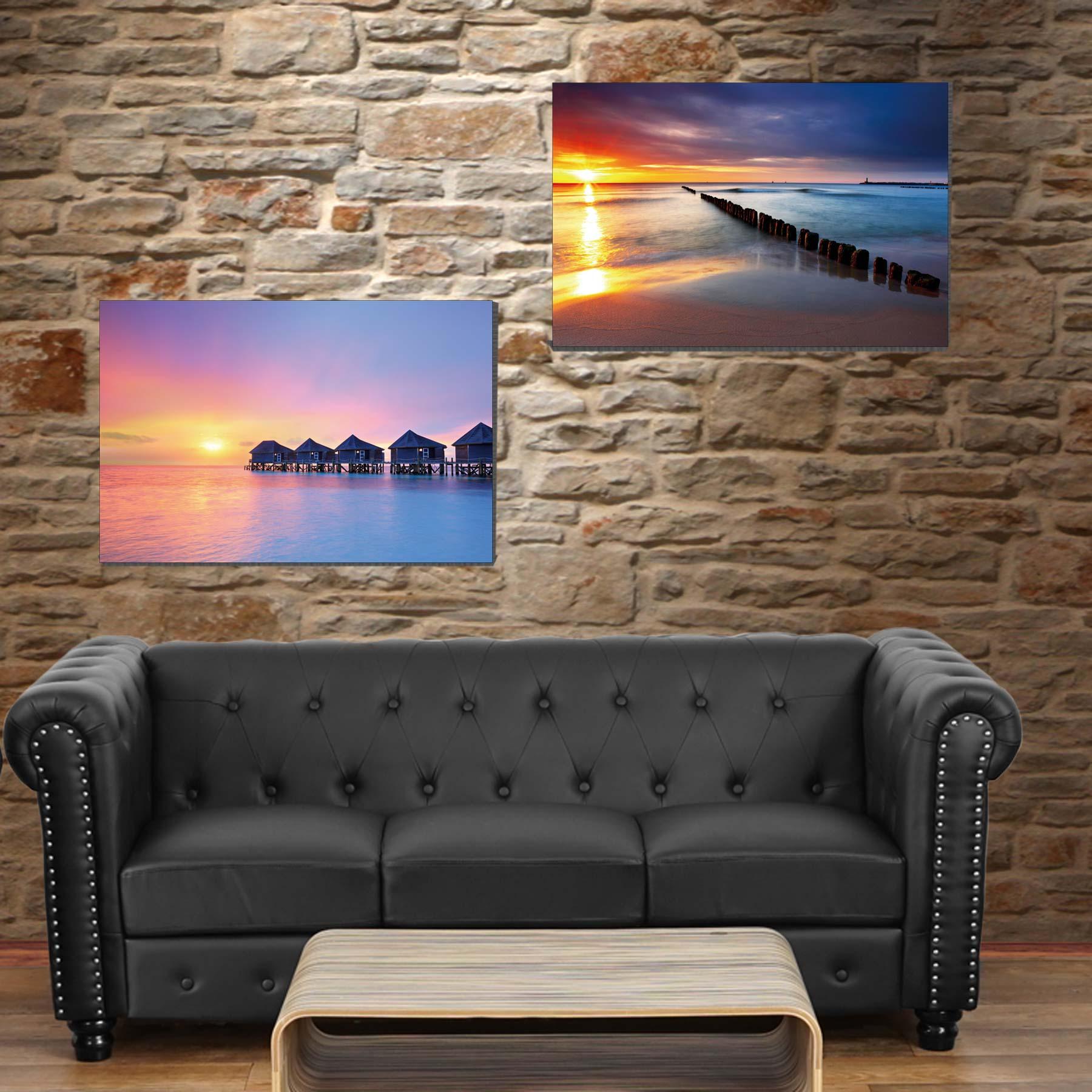 2x toiles de d coration murale tableau illumin avec for Decoration murale 974