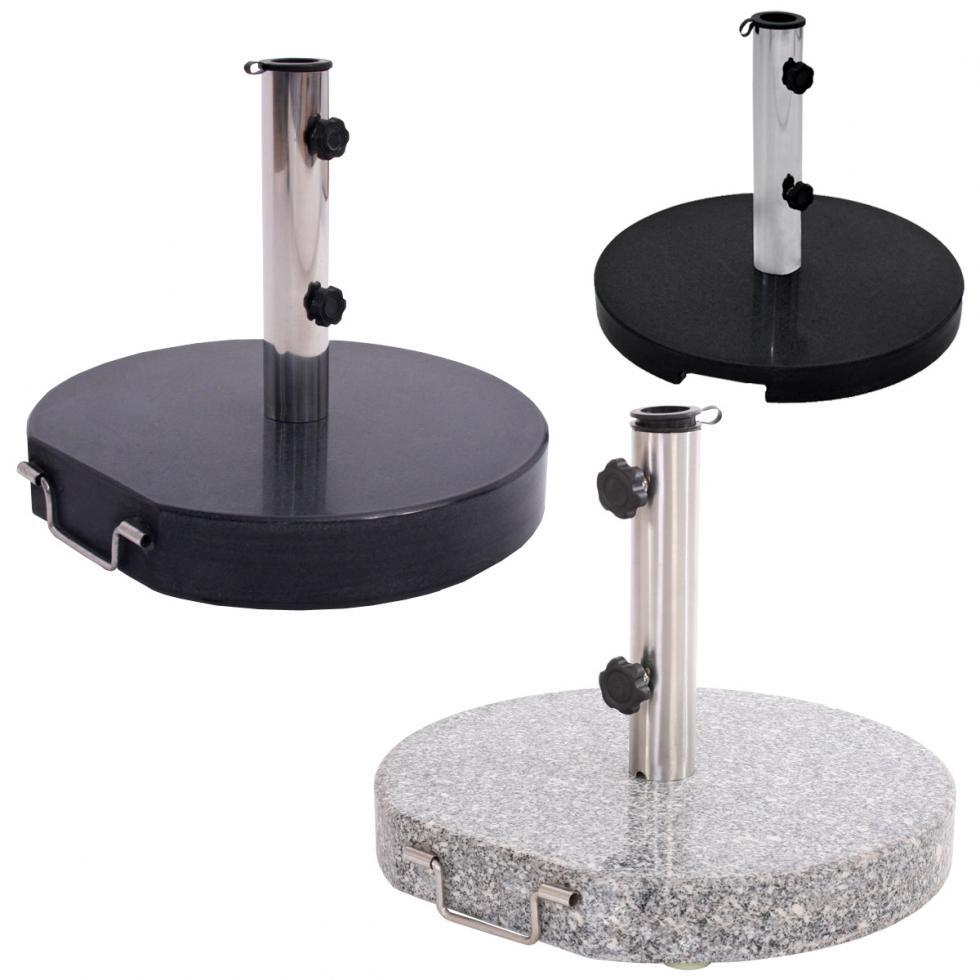 sonnenschirm st nder schirmst nder granit 20kg 30kg. Black Bedroom Furniture Sets. Home Design Ideas