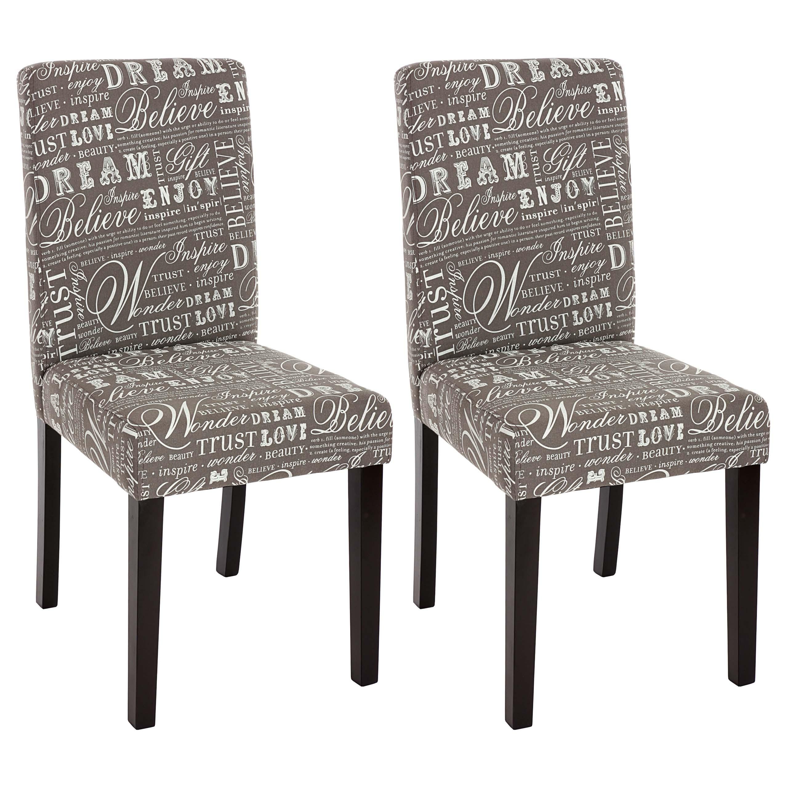 Set 2x sedie Littau tessuto per sala da pranzo 43x56x90cm colore a ...