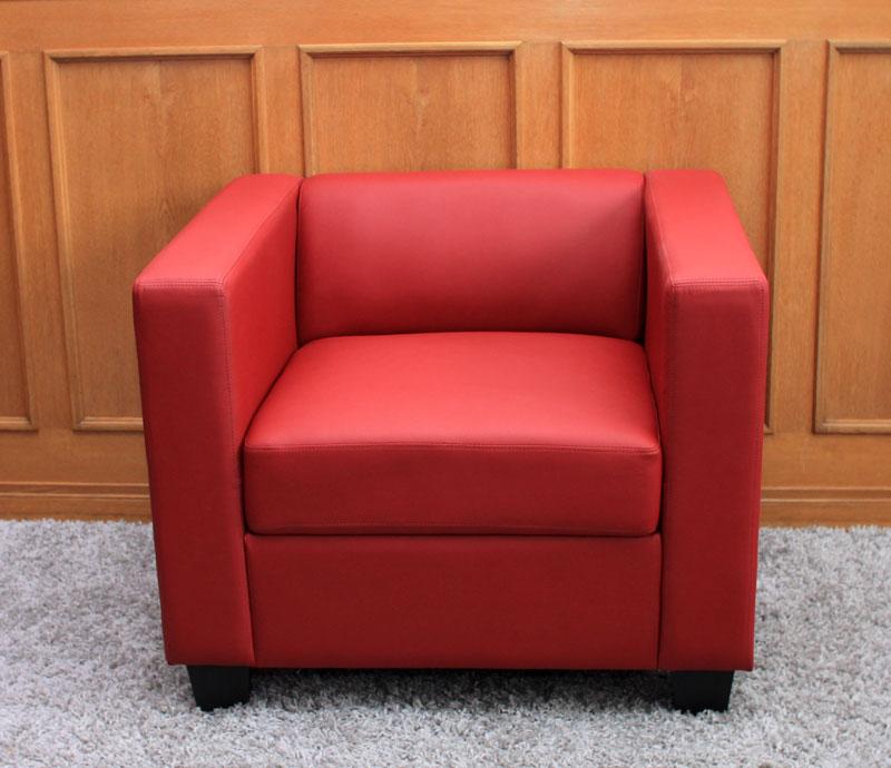 sessel loungesessel lille leder rot ebay. Black Bedroom Furniture Sets. Home Design Ideas